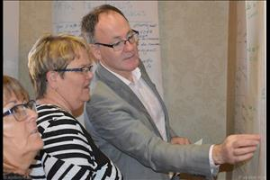Ghislaine Pilon (CNPF), Mona Audet (FCFA) et Donald DesRoches (RESDAC) en session de planification. (Photo : FCFA).